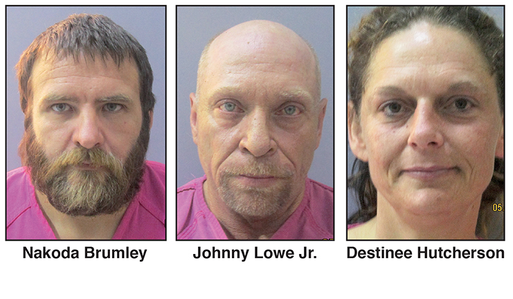 Three face charges in Wapanucka homicide